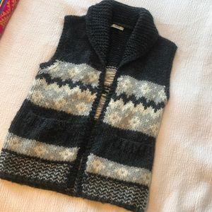 Madewell shawl collar wool vest